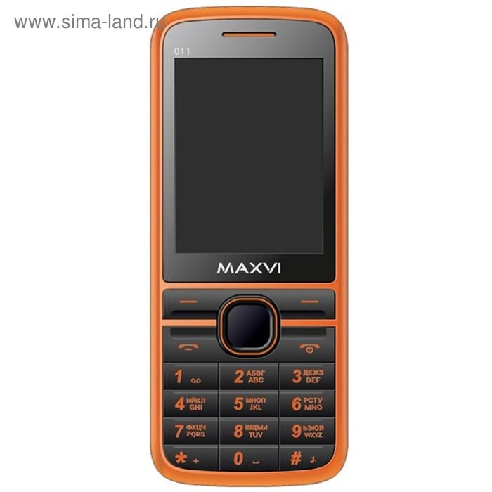 Мобильный телефон Maxvi C11, оранжевый