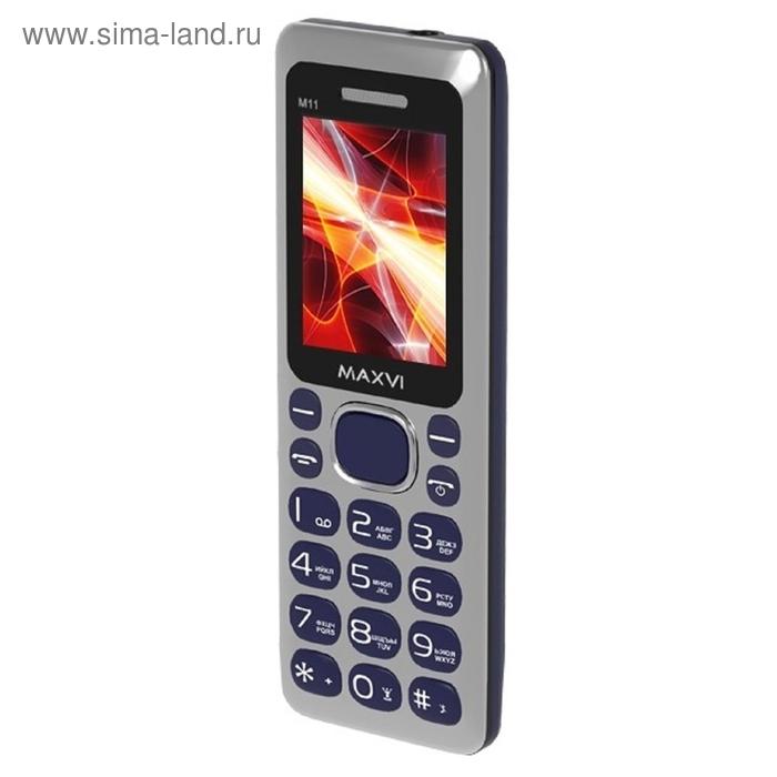 Мобильный телефон Maxvi M11, синий