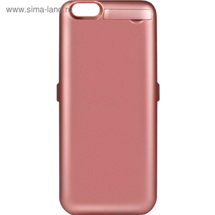 Аккумулятор-чехол DF iBattery-14 iPhone 6, розовое золото 3000 mAh