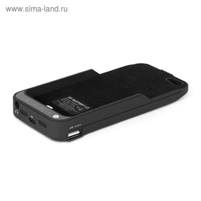 Аккумулятор-чехол DF iBattery-12 iPhone 5/5S, черный 4200  mAh серия Slim