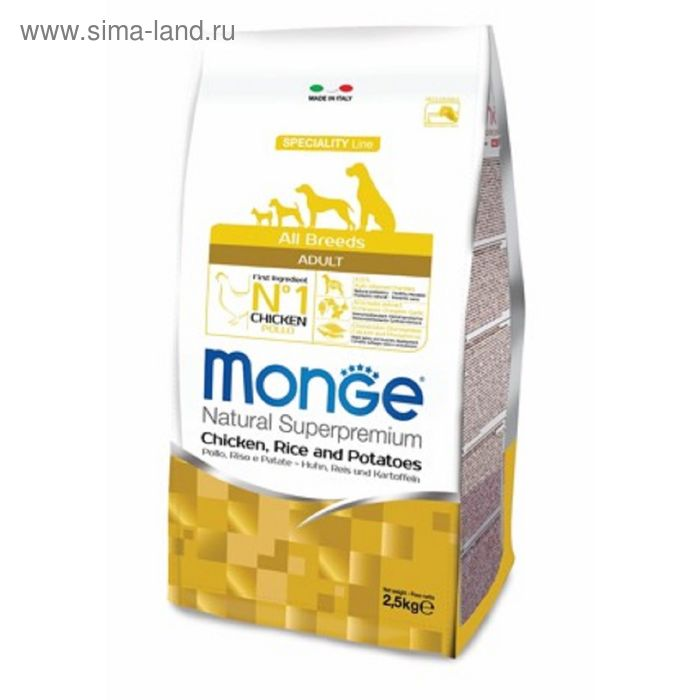 Сухой корм Monge Dog Speciality для собак, курица с рисом и картофелем, 12 кг