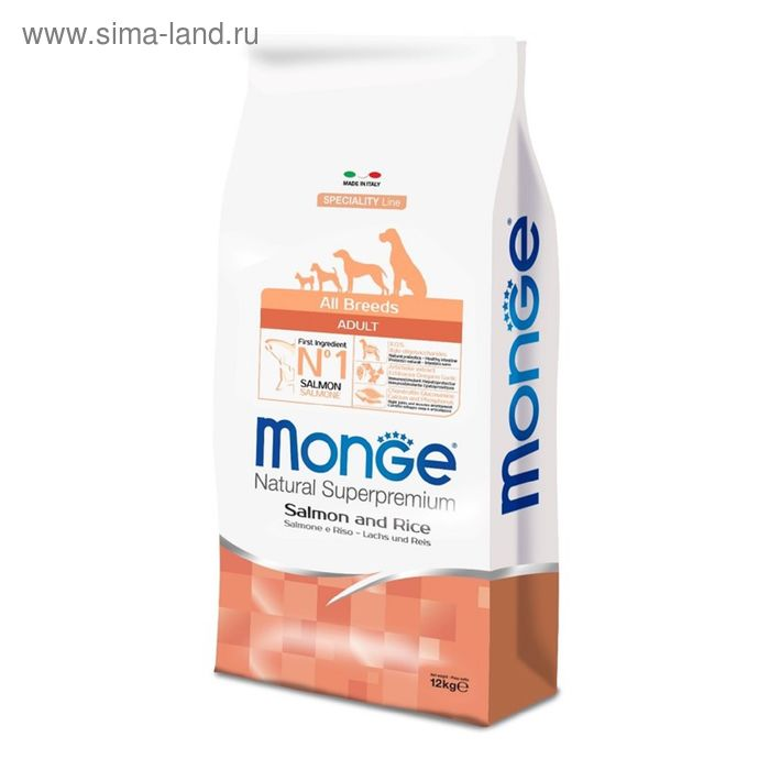 Сухой корм Monge Dog Speciality для собак, курица с рисом и картофелем, 2,5 кг