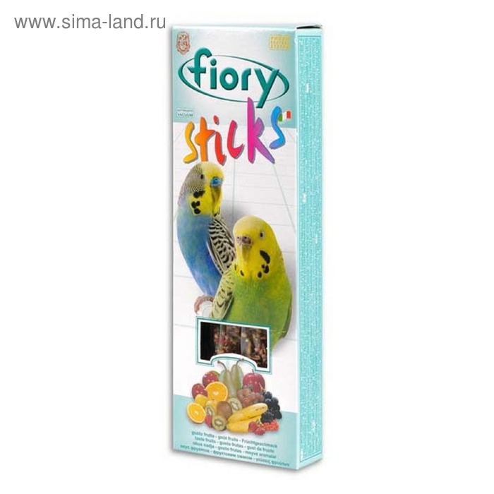Лакомство для попугаев FIORY Sticks с фруктами, 2 х 30 г