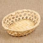 Фруктовница «Плетёнка», овальная, редкое плетение, 17х14х4 см, бамбук