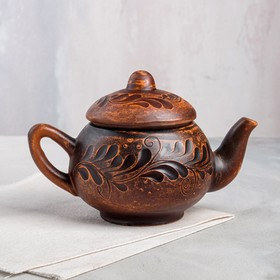 Чайник малый декор, 0,35 л, микс
