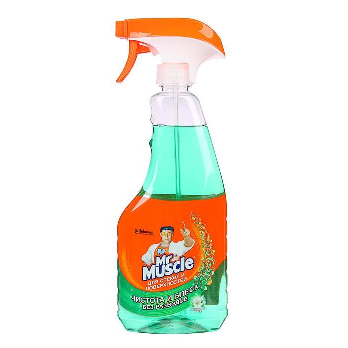 Чистящее и моющее средство Mr. Muscle с нашатырным спиртом для стёкол, 500 мл