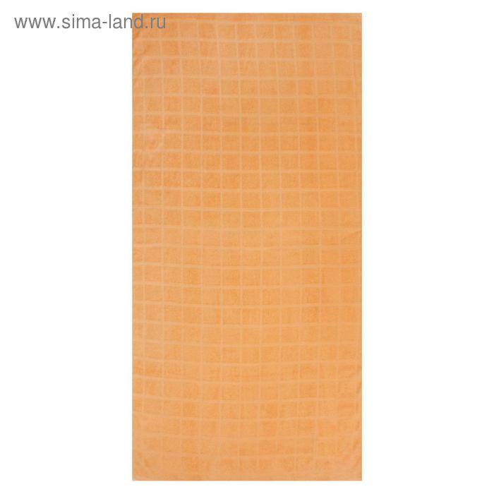 Полотенце махровое, цвет персиковый, размер 40х70 см, хлопок 340 г/м2