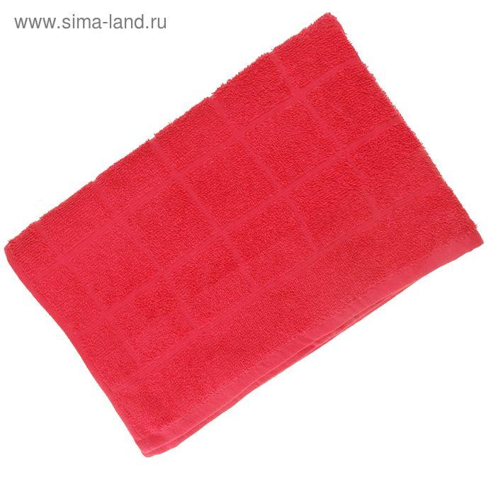 Полотенце махровое, цвет фуксия, размер 40х70 см, хлопок 340 г/м2