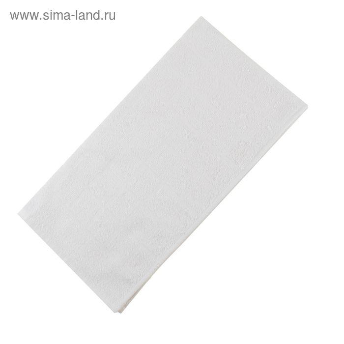 Полотенце махровое, цвет белый, размер 47х90 см, хлопок 340 г/м2