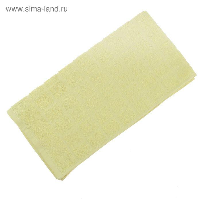 Полотенце махровое, цвет светло-лимонный, размер 47х90 см, хлопок 340 г/м2