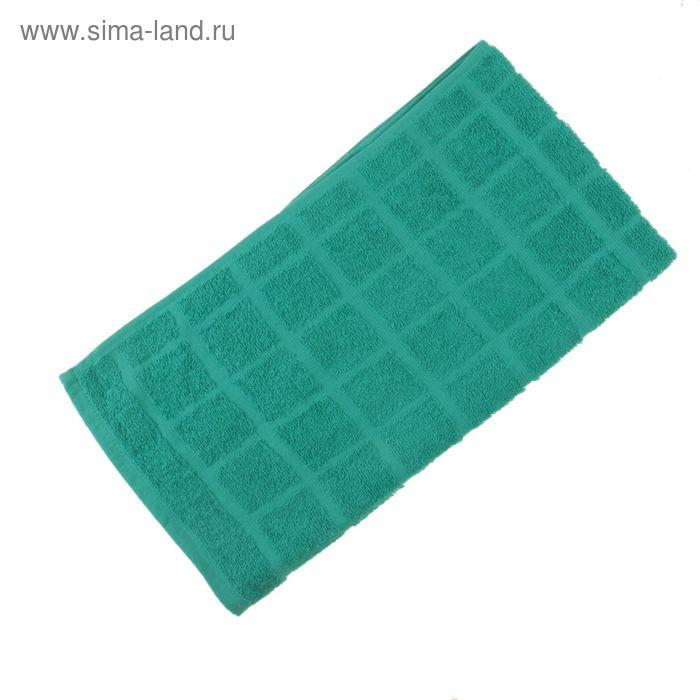 Полотенце махровое, цвет морская волна, размер 47х90 см, хлопок 340 г/м2