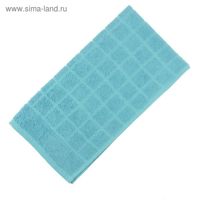 Полотенце махровое, цвет голубой, размер 47х90 см, хлопок 340 г/м2