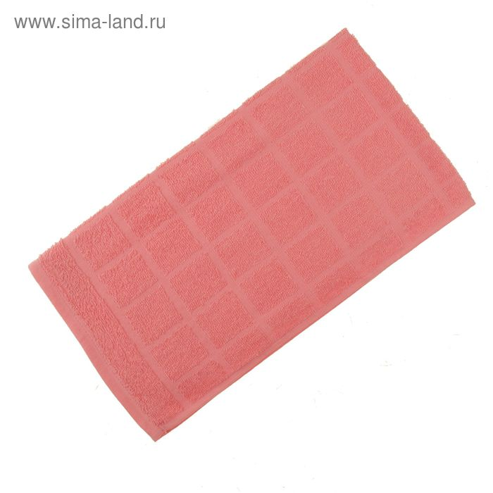 Полотенце махровое, цвет светло-коралловый, размер 47х90 см, хлопок 340 г/м2