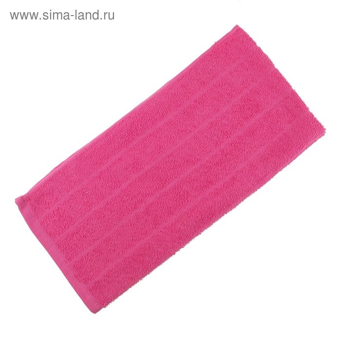 Полотенце махровое, цвет ярко-розовый, размер 47х90 см, хлопок 280 г/м2