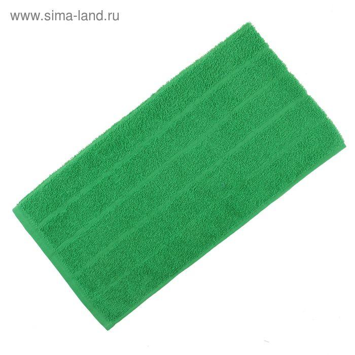 Полотенце махровое, цвет зелёный, размер 75х150 см, хлопок 280 г/м2