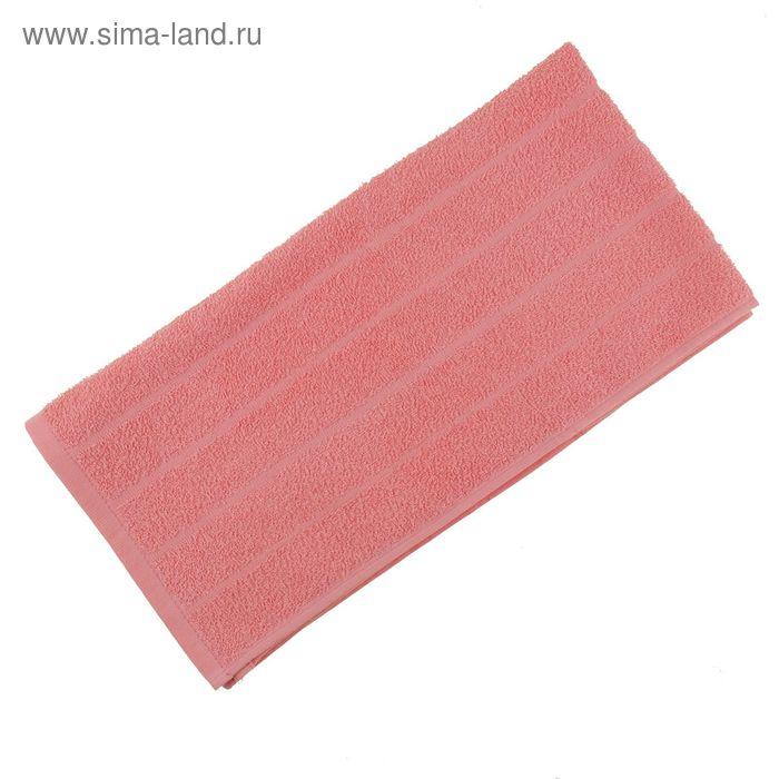 Полотенце махровое, цвет светло-коралловый, размер 75х150 см, хлопок 280 г/м2