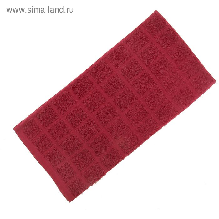 Полотенце махровое, цвет рубин, размер 47х90 см, хлопок 340 г/м2