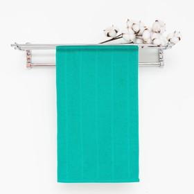 Полотенце махровое, цвет морская волна, размер 30х60 см, хлопок 280 г/м2 Ош