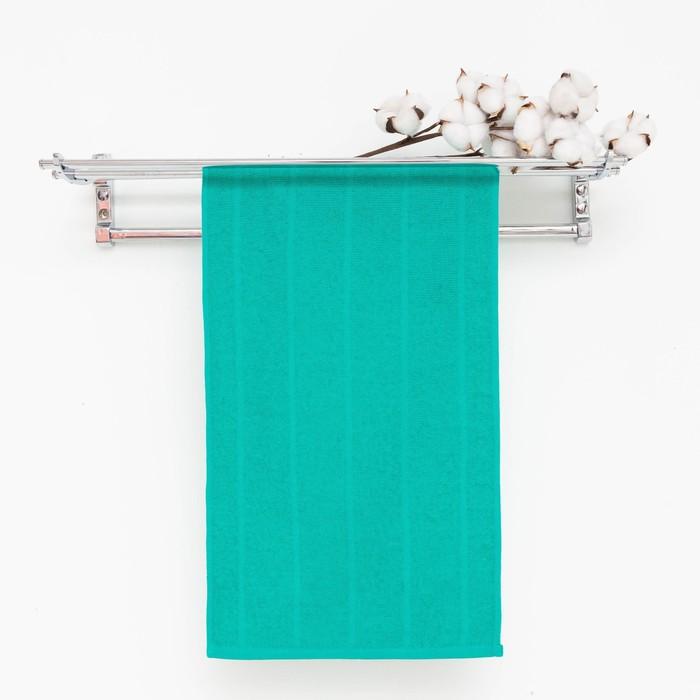 Полотенце махровое, цвет морская волна, размер 47х90 см, хлопок 280 г/м2