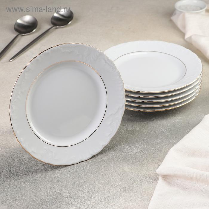 Набор тарелок десертных 19 см, 6 шт