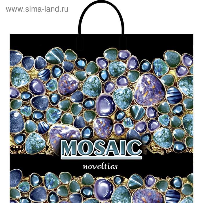 """Пакет """"Мозаика"""", полиэтиленовый с пластиковой ручкой, 38х35 см, 90 мкм"""