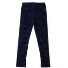 """Легинсы для девочки """"Ромашки"""", рост 110 см (56), цвет тёмно-синий, принт горошек ДРЛ894804н"""