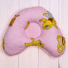 """Подушка для девочки """"Сердечко"""" (от 1 мес.), размер 30*25 см, цвет розовый 12-318 Ор"""