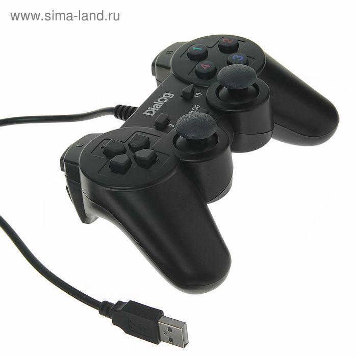 Геймпад GP-A11 Dialog Action, вибрация, 12 кнопок, USB, черный