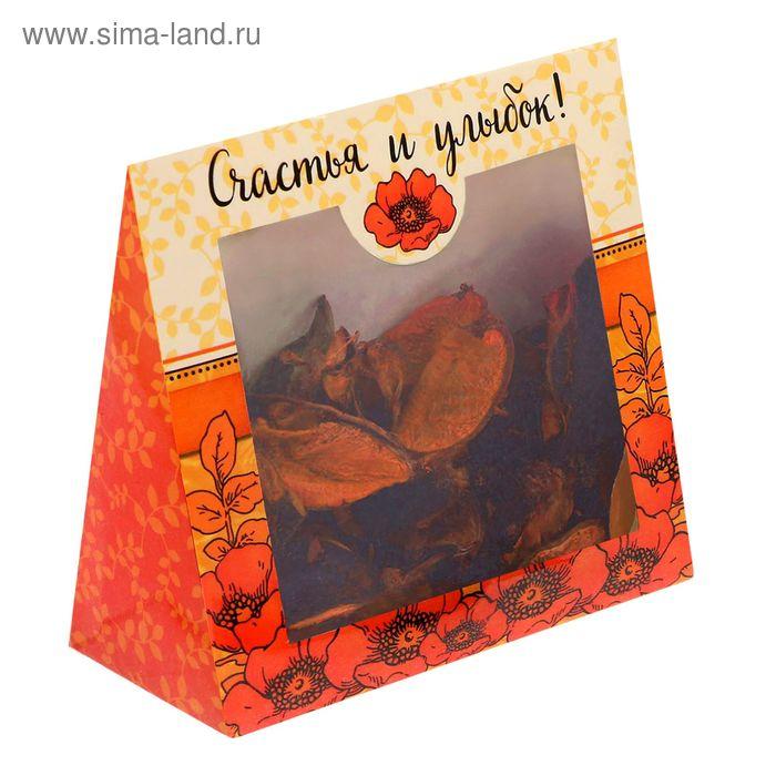 """Ароматические цветы в подарочной коробке """"Счастья и улыбок!"""""""