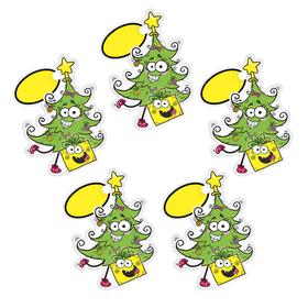 Шильдик декоративный на подарок 'Новогодняя ёлочка', 7,6 х 10 см Ош