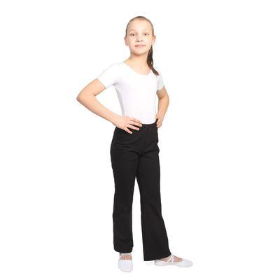 Брюки классические, для хореографии и танцев, размер 48, цвет чёрный
