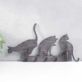 """Ключница открытая """"Три кошки"""""""