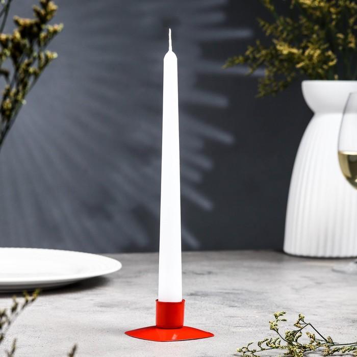 Подсвечник квадрат красный