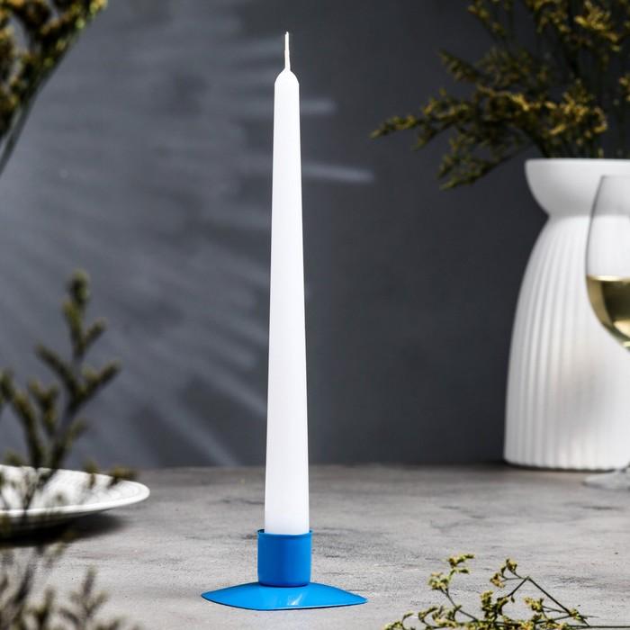 Подсвечник квадрат синий