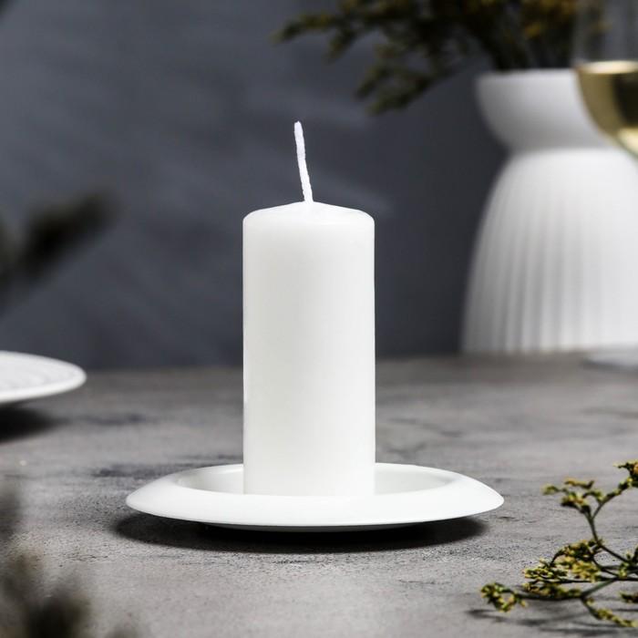 Подсвечник чашка 110 белый