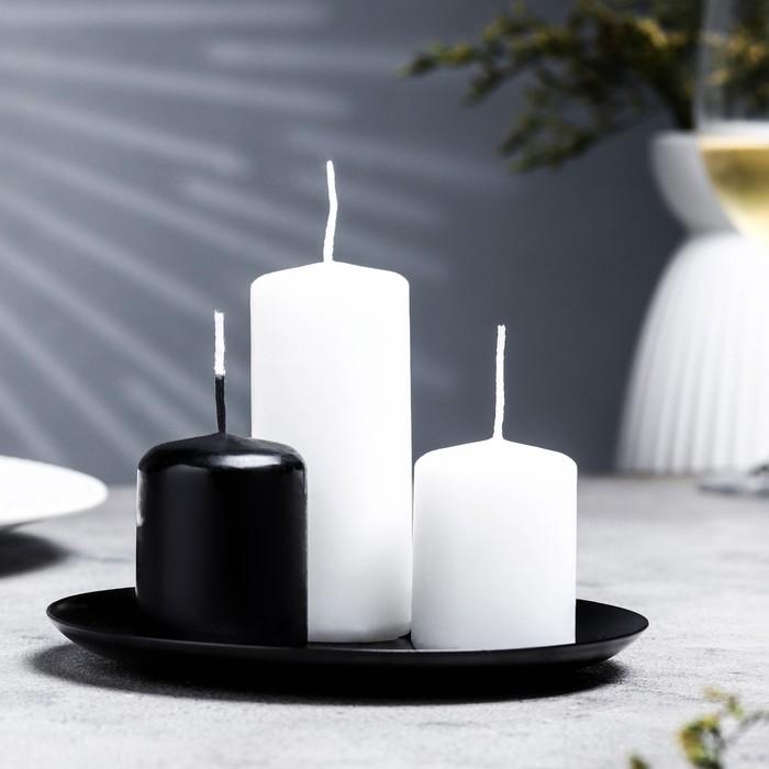 Подсвечник чашка 140 черный муар