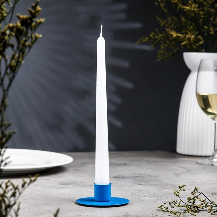 Подсвечник круг синий