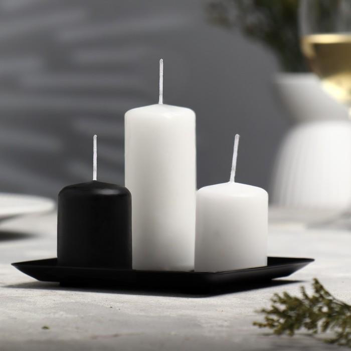 Подсвечник тарелка квадратная 126х126 №1
