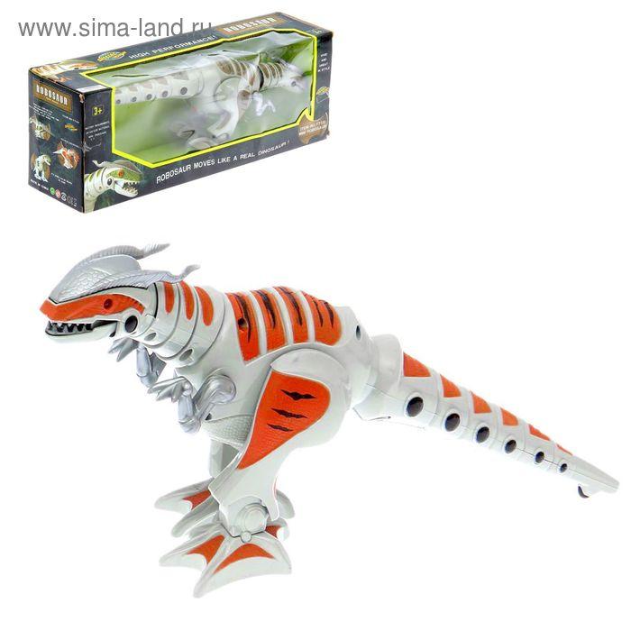 """Динозавр """"Робозавр"""", работает от батареек, световые эффекты, цвета МИКС"""