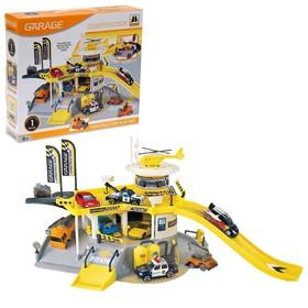 """Игровой набор """"Стройплощадка"""", 2 уровня, вертолетная площадка"""