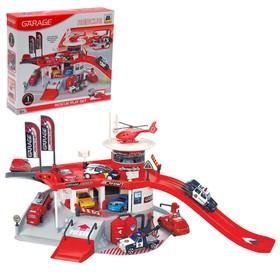 """Игровой набор """"Служба спасения 911"""", 2 уровня, вертолетная площадка"""