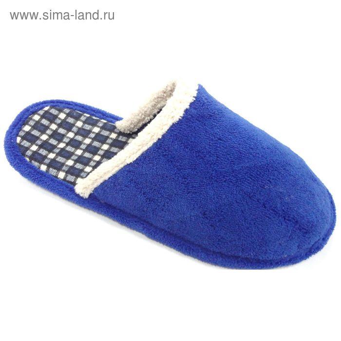 Тапочки детские с открытой пяткой, размер 32-37, цвет синий 138-5968 А