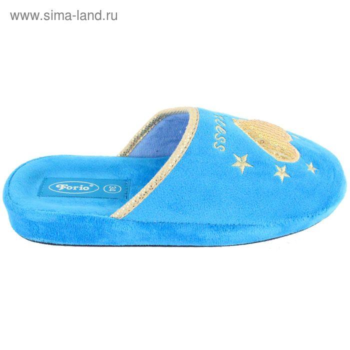 Тапочки детские с открытой пяткой, размер 32-36, цвет голубой 138-5085