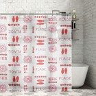 Штора для ванной комнаты,180х200 см, ПВХ