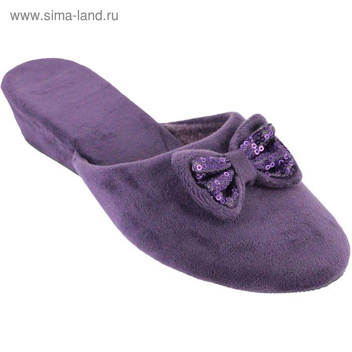 """Тапочки женские """"Танкетка"""", размер 36-40, цвет фиолетовый 135-5437 Т3"""