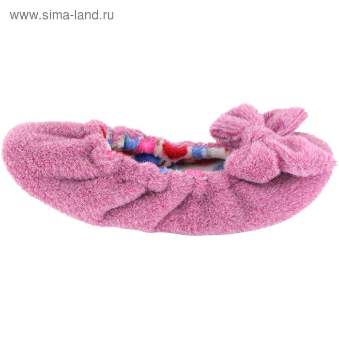 Тапочки женские (балетки), размер 36-40, цвет розовый 135-5512 Б