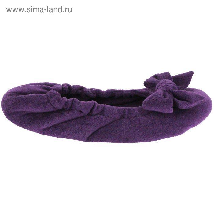 Тапочки женские (балетки), размер 36-40, цвет фиолетовый 135-5515 Б