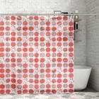 Штора для ванной комнаты 180х200 см, ПВХ