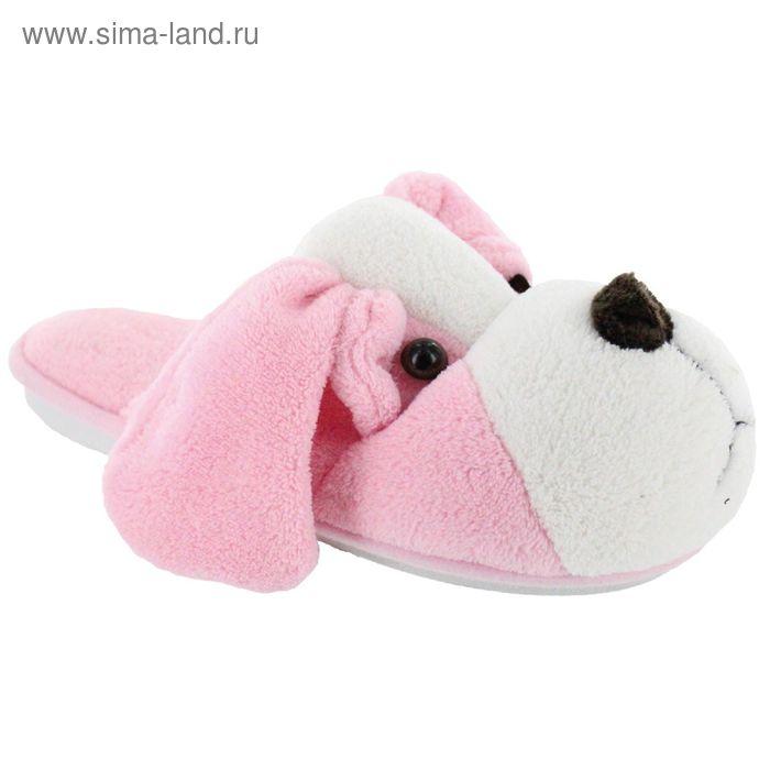 """Тапочки детские """"Игрушки"""", размер 30-35, цвет розовый/коричневый/серый 138-3909 И"""