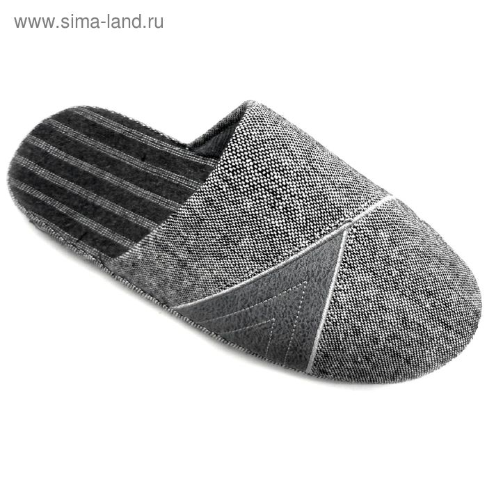 """Тапочки мужские закрытые """"Комфорт"""", размер 41-45, цвет серый 134-5063"""